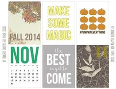 November Magic Free Printable File