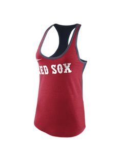 The Nike Tri-Blend Loose Racerback 1.4 (MLB Red Sox) Women's Tank Top.