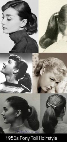 40s Hairstyles, Ponytail Hairstyles, 1950s Hairstyles For Long Hair, Beach Hairstyles, Hairstyle Men, Hairstyle Images, Fashion Hairstyles, Hair Ponytail, Party Hairstyles