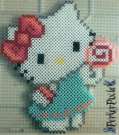Lollipop Hello Kitty by PerlerPixie.deviantart.com on @DeviantArt
