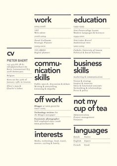 An In-Depth Analysis On What Makes Or Breaks A Resume In The Creative Field - DesignTAXI.com