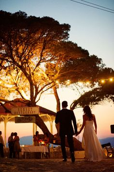 hydra, greece. That is really pretty to have a wedding there at senset!