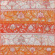 La Maison des Carrés Hermès | Pocket square Au Pays des Oiseaux Fleurs orange