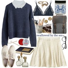 """swallowed by the sea"" by loveliness-ccv on Polyvore"
