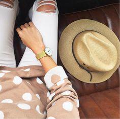Create New Customer Account Jillian Harris, Larsson & Jennings, Vintage Vibes, Minimalist Design, Gold Watch, Panama Hat, Unisex, Celebrities, Classic