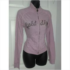 Designer GOLDDIGGA BNWT Ladies Long Sleeve Casual Fitness Jacket