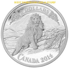 2014 $5 FINE SILVER COIN BANK NOTES SERIES: LION ON THE MOUNTAIN #COIN #COINS #RCM #ROYALCANADIANMINT #LION #BANKNOTE #SILVER #COLLECTIBLE