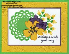 Love & affection doily smile flowers watermark