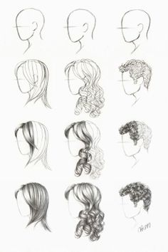 hair tutorials.need help drawing faces at a side view?