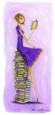 Reading in purple.