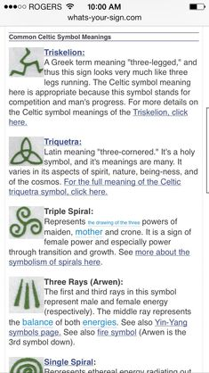 Celtic symbols. River is obsessed with spirals right now...: