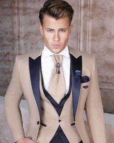 men's suits for weddings Indian Men Fashion, Mens Fashion Wear, Suit Fashion, Womens Fashion, Orange Blazer Outfits, Blazer Outfits Men, Dress Suits For Men, Suit And Tie, Suit Men