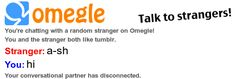We found a hilarious #Omegle conversation using Fake Omegle! Check it out: http://fakeomegle.com