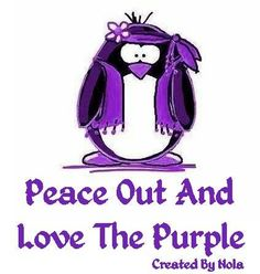 Peace out and love the purple - created by Nola