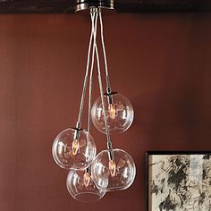 60W Artistic Modern Pendant with 4 Lights in Glass Bubble Design - USD $ 259.99