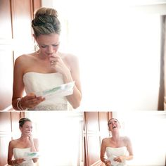 Exchange letters on the morning of the wedding!