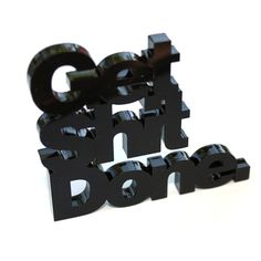 Get Shit Done Desk Décor Black, 15€, now featured on Fab.