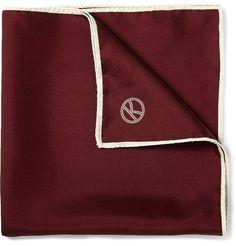 Kingsman - Drake's Wool and Silk-Blend Pocket Square|MR PORTER