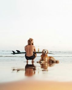 That's the life !!! Surf , beer and your best friend !