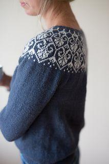 Ravelry: Lotusblomstkofte / Lotus flower jacket pattern by Marianne J. Cast On Knitting, Fall Knitting, Sweater Knitting Patterns, Knitting Ideas, Icelandic Sweaters, Cozy Sweaters, Norwegian Knitting, Fair Isles, Jacket Pattern