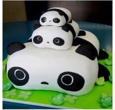 Cute Panda Birthday Cake Cake Design Food Cute Pandas