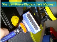 How to sharpen disposable razor blades to save money!