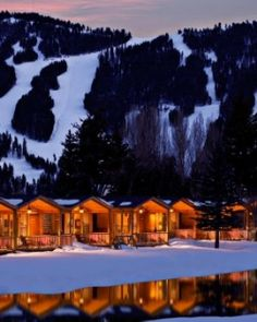 Rustic Inn's collection of log cabins sits by a lazy river just outside of Jackson Hole. #Jetsetter