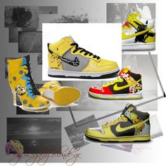 """Nike Dunk Pikachu SB Nikes High Top Sneakers"" by ala-chen on Polyvore"