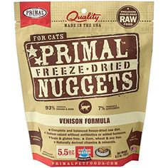 Primal Feline Venison Freeze Dried, 5.5 Oz --- The details can be found by clicking on the image. (This is an affiliate link and I receive a commission for the sales)