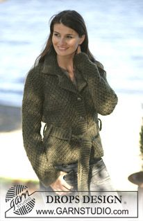DROPS 97-2 - DROPS Tailored cardigan in Moss stitch in Eskimo - Free pattern by DROPS Design