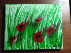 """""""Blown Away"""" - acrylics on canvas, painted for D-Day anniversary"""