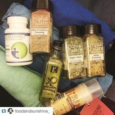 """#Repost @foodandsunshine_ who packed her #primalpalatespices for #PaleoFx2016 ... That is soo amazing!  Sorry we won't be there this year BUT if you want to buy spices or snag a sample head to the @onestoppaleoshop booth. They will have limited supplies of our spices. So get there first and be SURE to post about buying them on IG    """"Packing for some vacation and @paleofx time in Austin and made sure to include the essentials - @primalpalate spices (cause really do I go anywhere without…"""