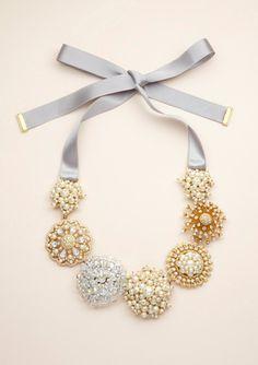vintage pin bib necklace by Carolee