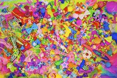 写真作品「Colorful Rebellion」(2011) Colorful Rebellion=色彩の反抗。 原宿の街の俯瞰図であり、その街に集まる心象風景として製作。 この1作目以降シリーズ化している。