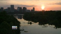 Beautiful sunrise shot over the James River in Richmond on the CBS 6 News Monday morning (May 7, 2012). Image by CBS 6 Photojournalist Andy Pederson.