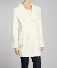 Cream Open Knit Cardigan