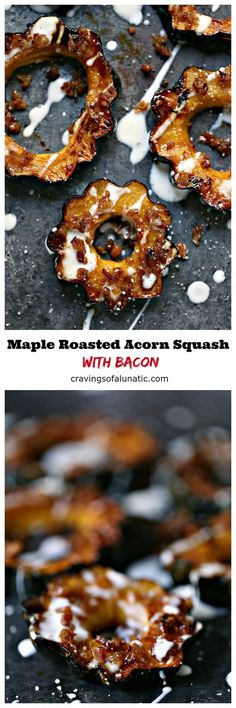 This Maple Roasted Acorn Squash with Bacon is a quick and easy recipe that is perfect for fall. Perfect for every day or holidays. #sponsored #bornonthefarm