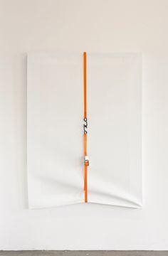 Morgan-Richard Murphey - Untitled, 2012.  Acrylic on canvas, ratchet clamp,  160 x 117 cm