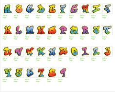 Create Names With Bubble Letters | ... Letters A - Z for Stickers / Graffiti Alphabet | Graffiti Letters