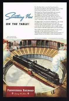1945 Pennsylvania Railroad Train Turntable Turbine Baldwin Locomotive Print Ad | Collectibles, Transportation, Railroadiana & Trains | eBay!