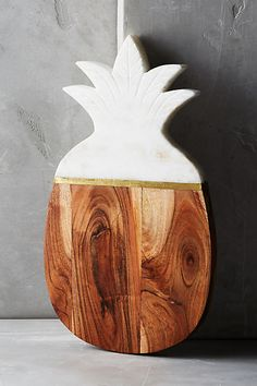 Anthropologie Marble & Acacia Cheese Board