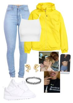 """""""Untitled #86"""" by baby-boogaloo ❤ liked on Polyvore featuring H&M, Topshop and NIKE"""