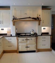 Range Cooker Set Forward In Fireplace