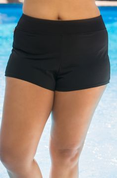 The Captiva Separates Shoreline Swim Short #3350744 is a multitasking plus size garment that will take you through your day.  Swim to gym and ship to shore state the obvious, but what about just runn