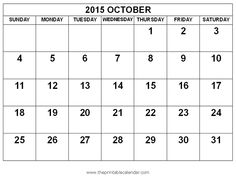 October Calendar For 2018 Printable – Free Printable Calendar March 2015 Calendar, 2018 Printable Calendar, Excel Calendar, Blank Calendar Template, Print Calendar, Calendar Pages, Planer, December, Holidays