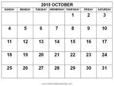 October Calendar For 2018 Printable – Free Printable Calendar