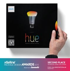 The Dieline Package Design Awards 2013: Technology, Games, Toys, & Media, 2nd Place - Interactive Package HUE / Philips - The Dieline -