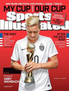 Abby Wambach, capping off a fine career, on top.