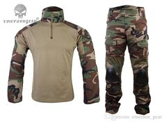 2016 Gen2 Combat Bdu Uniform Shirt Pants With Elbow Knee Pads Emerson Gear Airsoft Military Bdu Durable Material Em6974 Woodland Wl From Emerson_gear, $74.7   Dhgate.Com