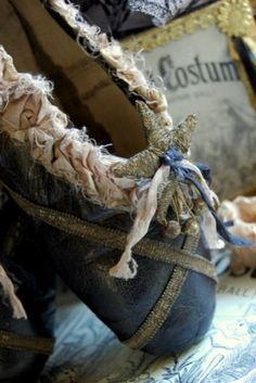beautiful pointe shoes I can't imagine dancing in THIS :) too beautiful to damage.